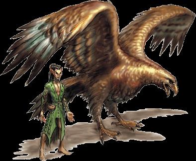 Elfe et son aigle