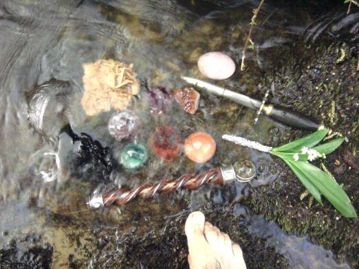 Beltaine 2013 - Purification de mes outils de rituel