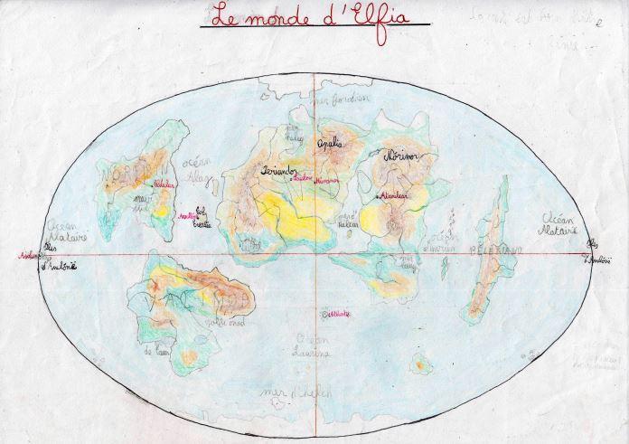Première carte d'Elfia