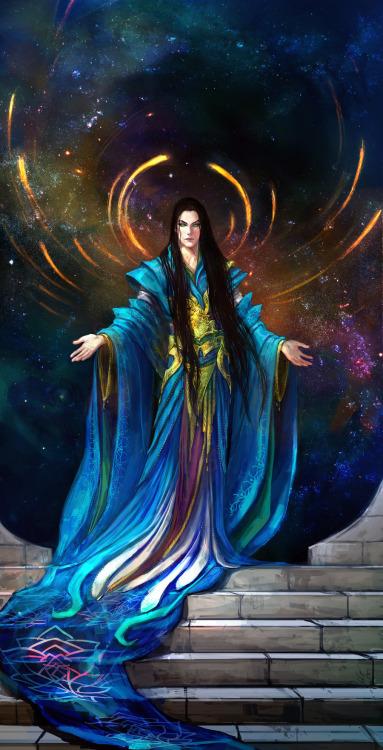 Eru Ilúvatar sous un aspect elfique