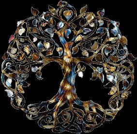 arbre de vie multicolore
