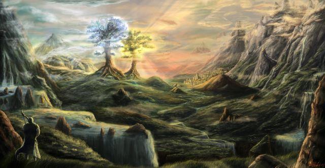Laurelin et Telperion à Valinor